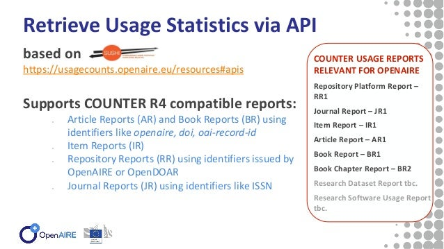 OpenAIRE Downloads for Funders