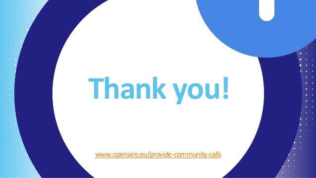 10th OpenAIRE Content Providers Community Call