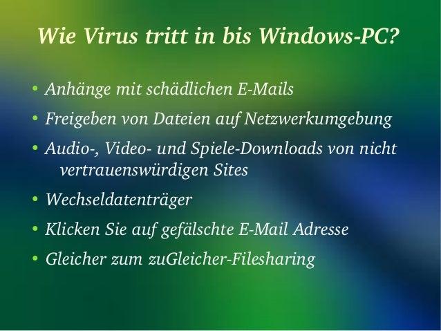 wie man von schädlichen Computervirus loswerden Slide 3