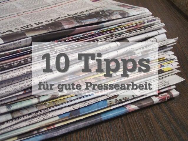 10 Tipps für gute Pressearbeit