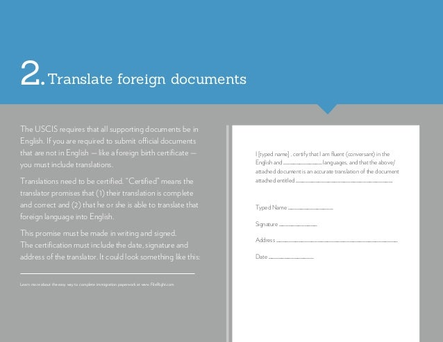 I [typed name] , certify that I am fluent (conversant) in the English and ____________ languages, and that the above/ atta...