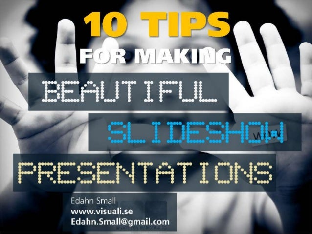 Make beautiful presentations