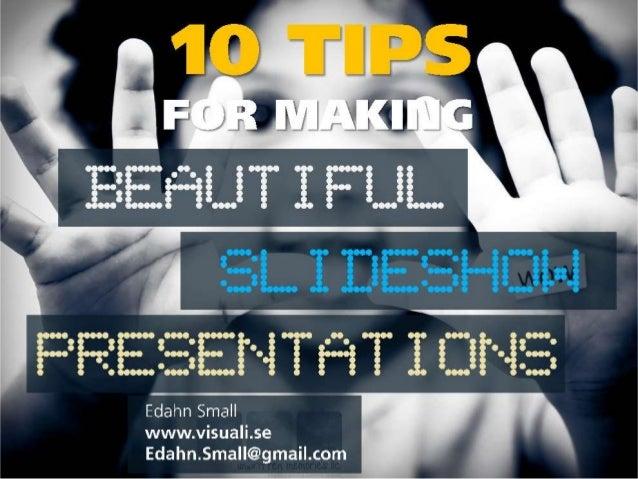 Make beautiful presentations