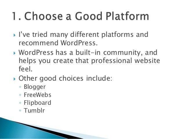 10 Tips for New Bloggers Slide 2