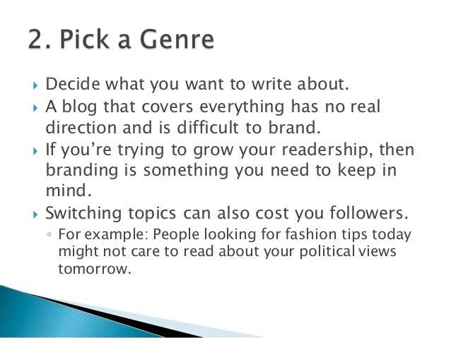 10 Tips for New Bloggers Slide 3