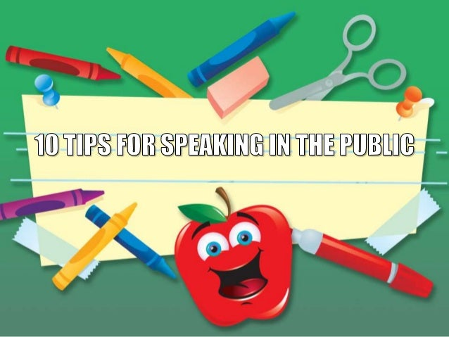 1. Know your material Pick a topic you are interested in. Know more about it than you include in your speech. Use humor, p...