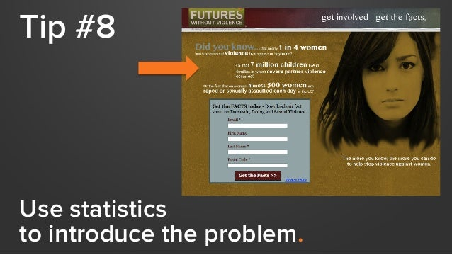 Tip #8 Use statistics to introduce the problem.