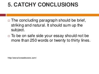 tips for writing effective essay next slideshares