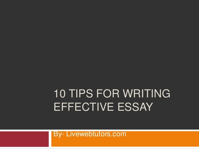 tips for writing effective essay