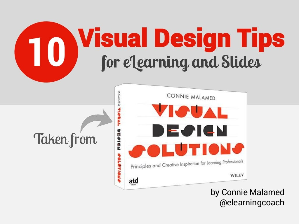10 Visual Design Tips for eLearning and Slides