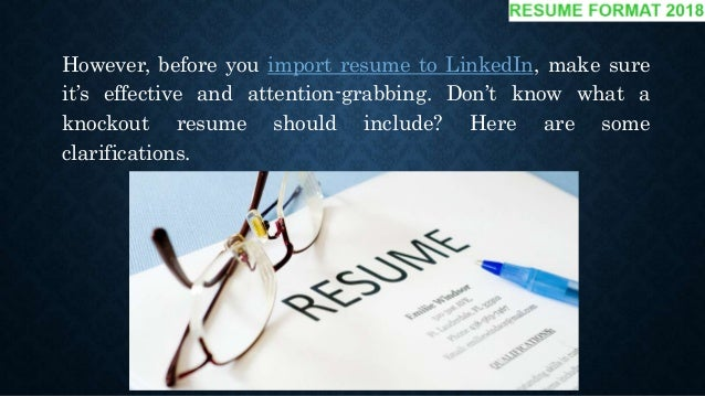 10 tips how to add resume to linkedin