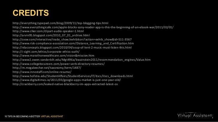 CREDITS<br />http://everything.typepad.com/blog/2009/11/top-blogging-tips.html<br />http://www.everythingicafe.com/apple-b...