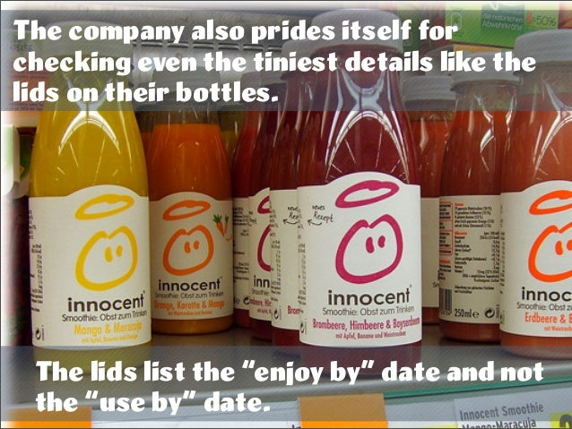 "The company also prides itself for checking even the tiniest details like the lids on their bottles. The lids list the ""en..."