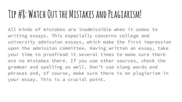 college essay tip