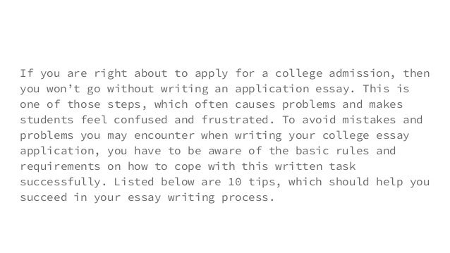 College application essay help online successful
