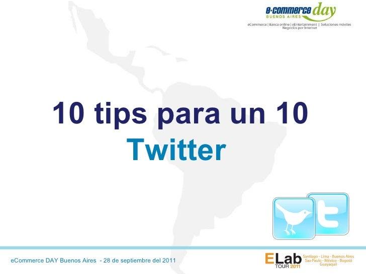 10 tips para un 10 Twitter