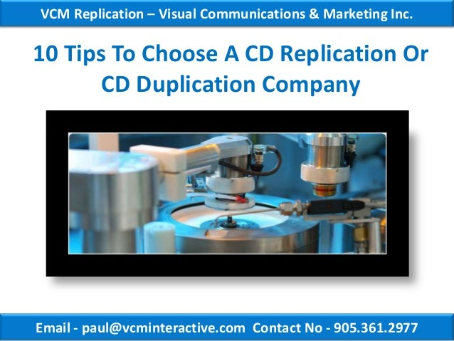 VCM Replication – Visual Communications & Marketing Inc.10 Tips To Choose A CD Replication Or       CD Duplication Company...