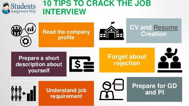 quick job interview tips