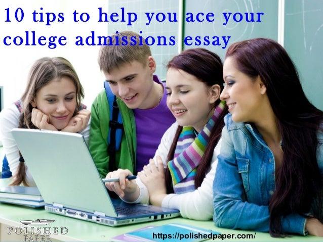 College admission essays help