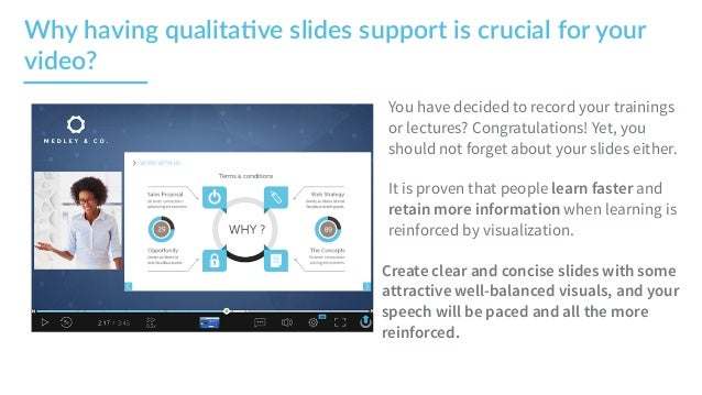 UbiTips - How to make an impacting  presentation support for your video    Slide 2