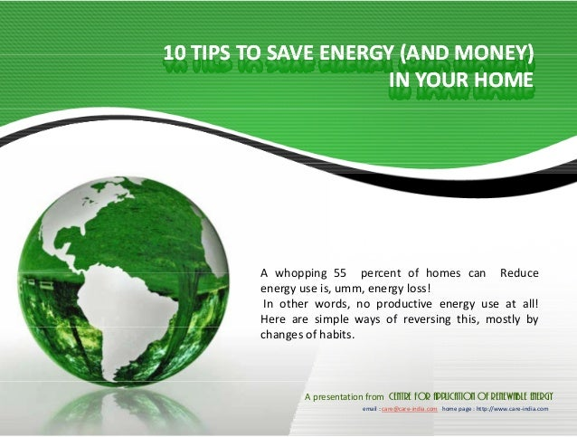 conserve energy home essay