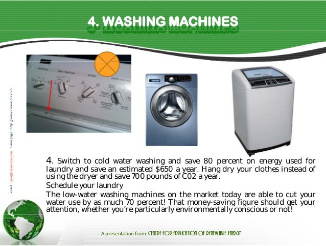 Basics facts save electricity and money - Interesting facts about washing machines ...