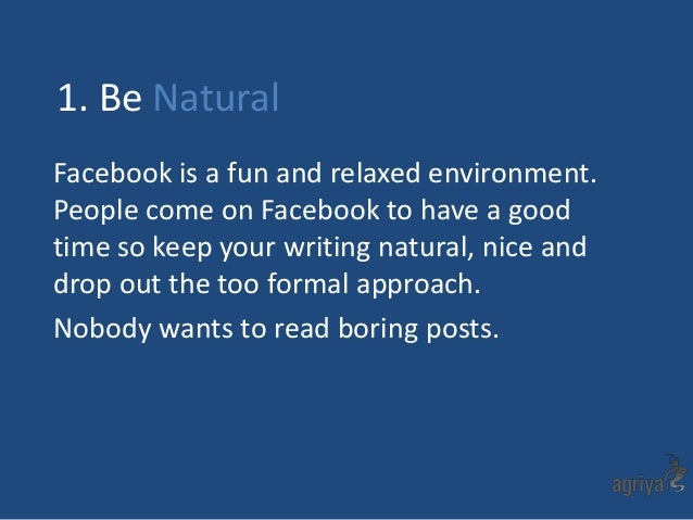 "a strategy for writing posts in facebook He's also used the same strategy on seven different facebook pages in  ""when i am writing or doing video and putting blog posts  coach for all smart blogger."