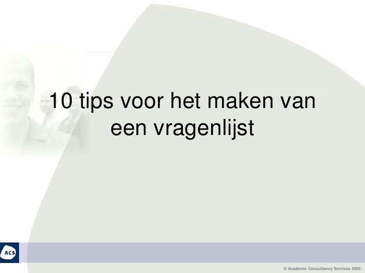 10 tips voor het maken van een vragenlijst<br />