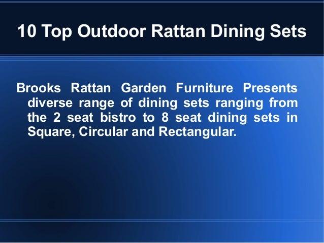 10 top outdoor rattan dining sets brooks rattan garden furniture presents diverse range of dining sets