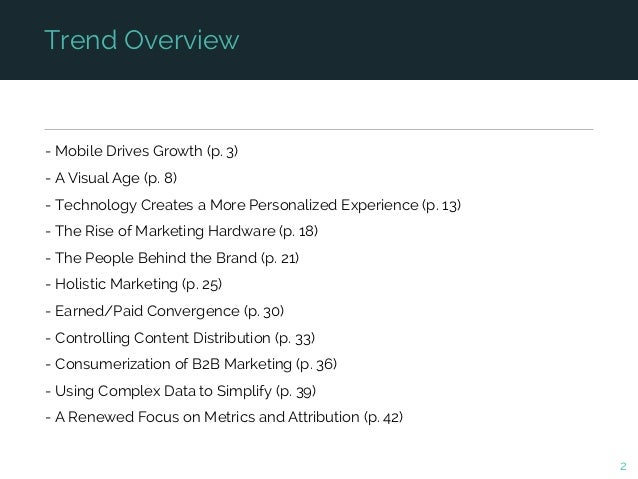 11 Trends That Are Changing the Marketing World Slide 2