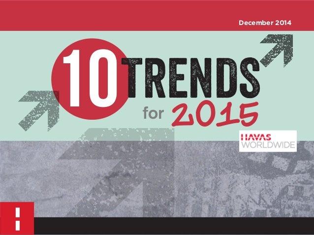10 for 2015  TRENDS  December 2014