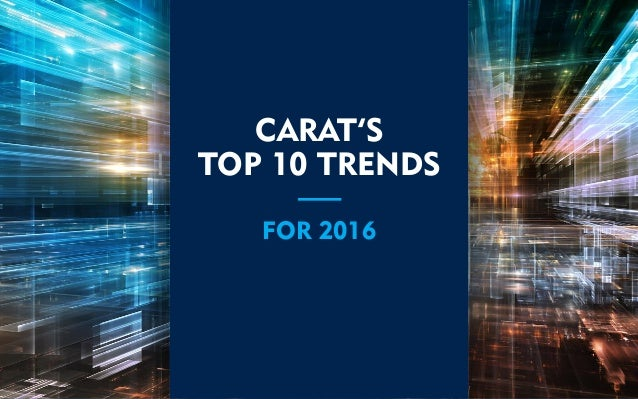 CARAT'S TOP 10 TRENDS FOR 2016
