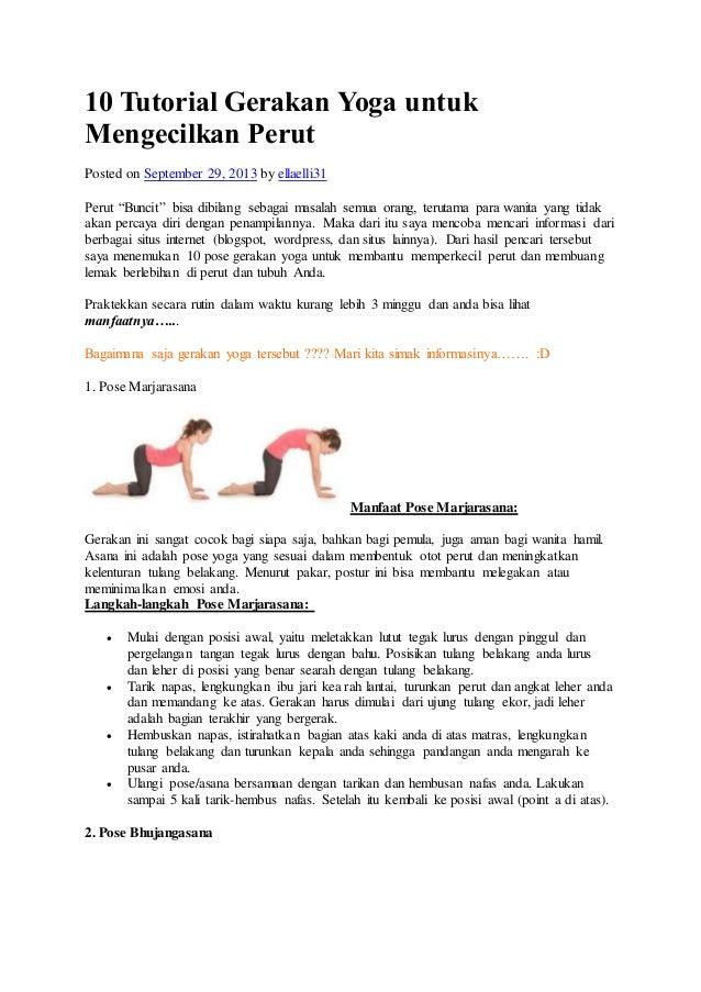5 Gerakan Yoga Sederhana untuk Mengecilkan Perut Buncit