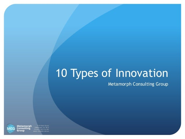10 Types of Innovation Metamorph Consulting Group
