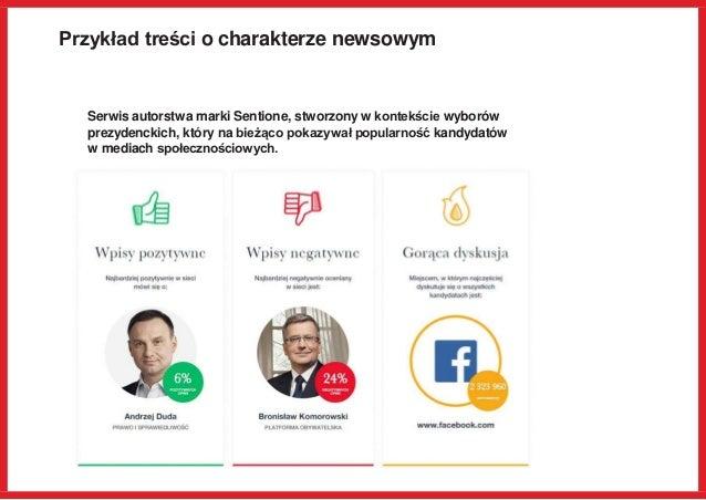 Przykład treści o charakterze newsowym Serwis autorstwa marki Sentione, stworzony w kontekście wyborów prezydenckich, któr...