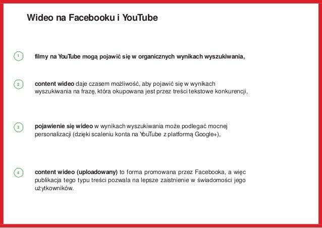 Wideo na Facebooku i YouTube filmy na YouTube mogą pojawić się w organicznych wynikach wyszukiwania, content wideo daje cz...