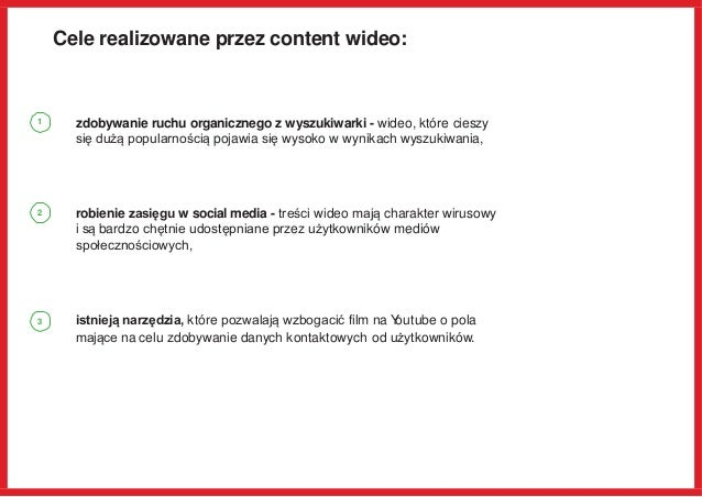 Cele realizowane przez content wideo: zdobywanie ruchu organicznego z wyszukiwarki - wideo, które cieszy się dużą popularn...