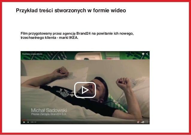 Przykład treści stworzonych w formie wideo Film przygotowany przez agencję Brand24 na powitanie ich nowego, trzechsetnego ...