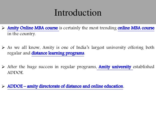 10 Unique Facts Of Distance Online Mba Course From Amity