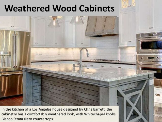 Bon 3. Weathered Wood Cabinets In The Kitchen ...
