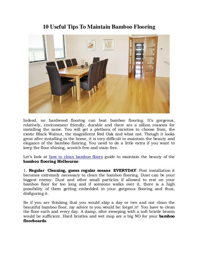 10 Useful Tips To Maintain Bamboo Flooring