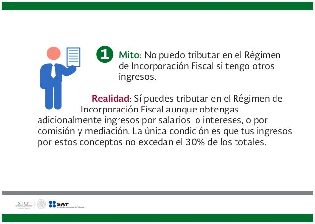 Diez verdades del Régimen de Incorporación Fiscal Slide 3
