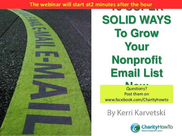 The webinar will start at2 minutes after the hour                             10 SUPER                            SOLID WA...
