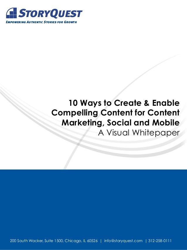 Empowering Authentic Stories for Growth                           10 Ways to Create & Enable                        Compel...