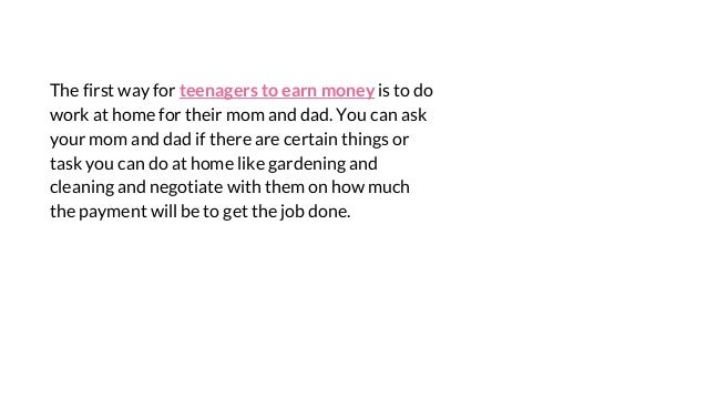 ways to earn money for teens