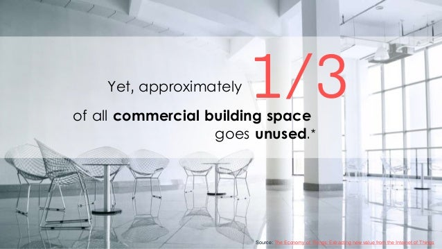 1/3of all commercial building space goes unused.* Yet, approximately Source: The Economy of Things: Extracting new value f...