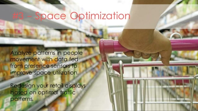 #3 - Space Optimization Analyze patterns in people movement with data fed from presence sensors to improve space utilizati...