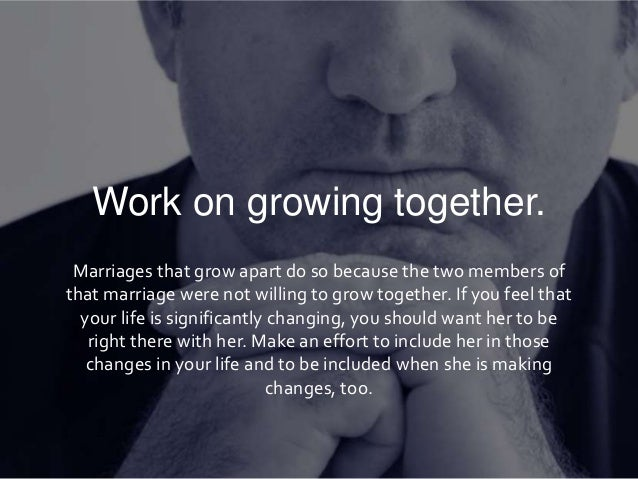Growing apart in your marriage