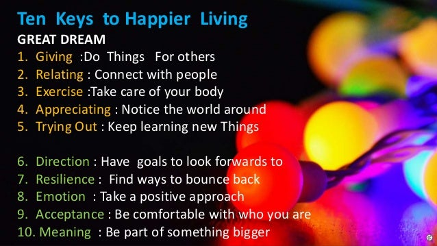 10 Keys to Happiness and mindfullness Slide 3