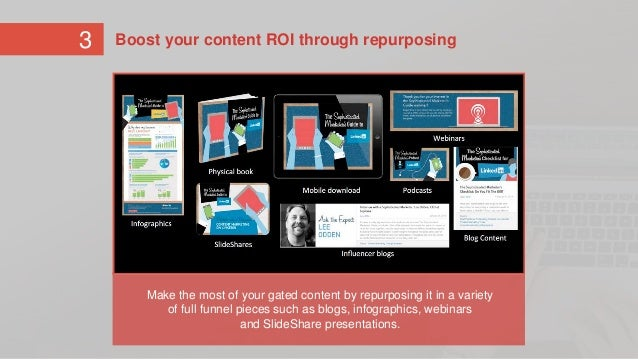 Make the most out of your gated content by repurposing it in a variety of full funnel pieces such as blogs, infographics, ...